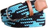 CUKKE Mens Nylon Stretch Woven Belt Steel Buckle 110cm