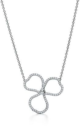 Tiffany & Co. & Co. Paper Flowers diamond open flower pendant in platinum