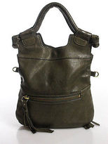 Foley + Corinna Green Leather Baguette Handbag