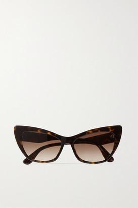 Dolce & Gabbana Cat-eye Tortoiseshell Acetate Sunglasses