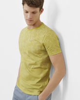 Ted Baker Geo and striped print cotton Tshirt