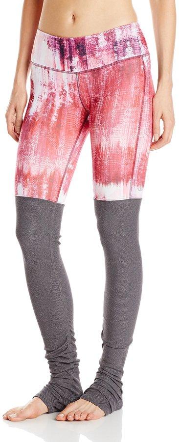 Alo Yoga Women's Goddess Ribbed Legging Printed