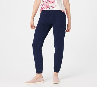 Denim & Co. Petite Comfy Knit Pull-On Ankle Length Jogger