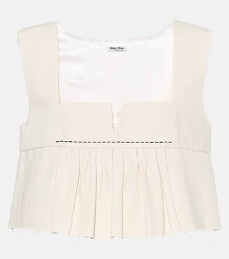 Miu Miu Cotton crop top