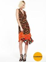 Warehouse Joni Mega Mix Ruffle Dress