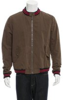 Band Of Outsiders Rib Knit-Trimmed Bomber Jacket