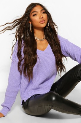 boohoo Tall V Neck Jumper