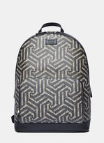Gucci Men's Gg Caleido Geometric Print Backpack In Beige And Black