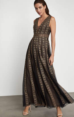 BCBGMAXAZRIA Tulle Pleat Dress