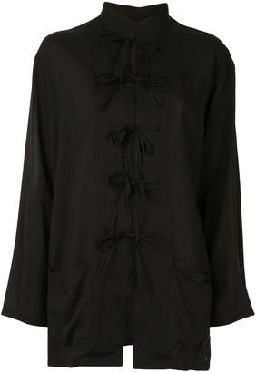 Yohji Yamamoto Bow Fastened Long Sleeve Shirt