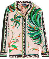 Emilio Pucci Printed Silk-twill Blouse - Pastel pink