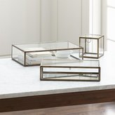 Crate & Barrel Clarus Brass Display/Jewelry Boxes