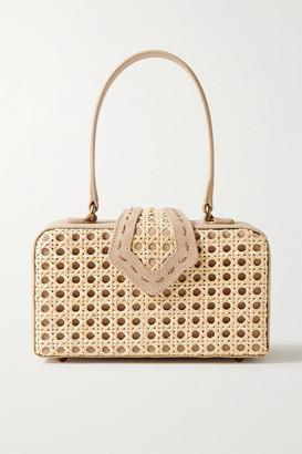 Mehry Mu - Fey In The '50s Rattan And Leather Tote - Mushroom