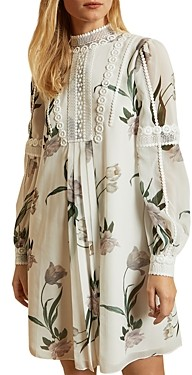 Ted Baker Elderflower Lace Trimmed Tunic Dress