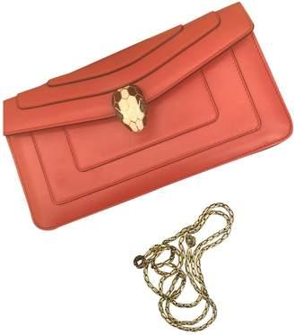Bvlgari Serpenti Red Leather Handbags