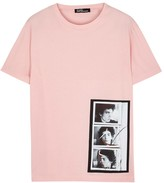 Raf Simons Pink Printed Cotton T-shirt