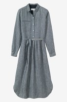 Toast Stripe Linen Shirt Dress