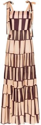 Johanna Ortiz Waterfront striped cotton maxi dress