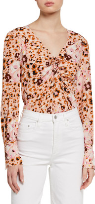 Paige Giulana Printed Long-Sleeve Top