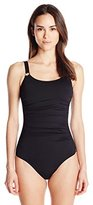 Calvin Klein Women's Over The Shoulder Maillot One Piece Swimsuit
