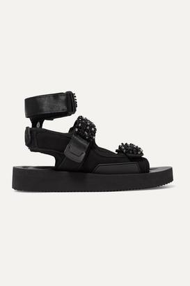 Suicoke Cecilie Bahnsen - + Aurelia Bead-embellished Neoprene Sandals - Black