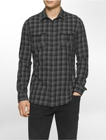 Calvin Klein Slim Fit Brushed Block Check Shirt