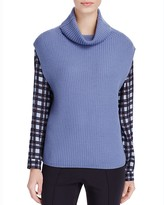 Basler Draped Turtleneck Sweater Vest