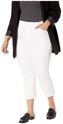 Jag Jeans Plus Size Maya Twill Crop Pants (White) Women's Casual Pants
