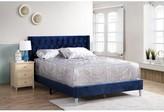 Edmond Upholstered Standard Bed Wrought Studio Size: Full, Color: Velvet Navy Blue