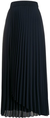 Peserico Asymmetric Detail Pleated Skirt