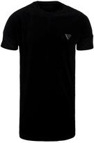 Creative Recreation Loftus Black Velour Long Line T-shirt