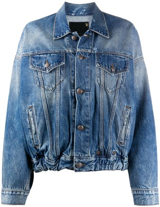 R 13 Stonewashed Denim Jacket