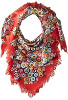 Tory Burch Millefiore Fringed Silk Square Scarves