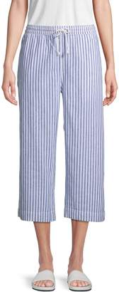 BeachLunchLounge Beach Lunch Lounge Striped Linen & Cotton Blend Pants