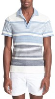 Orlebar Brown Men's Stripe Cotton Terry Polo