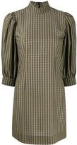 Ganni Check Print Dress