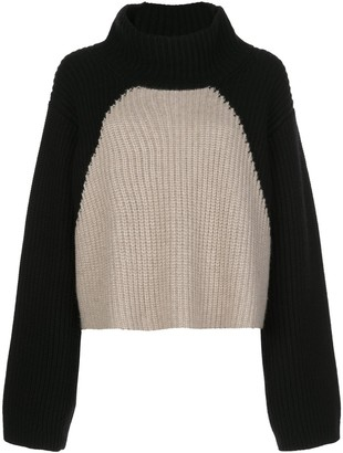 KHAITE Marianna ribbed colour-block jumper