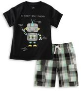 Kids Headquarters Infant Boys Robot Shirt and Shorts Set