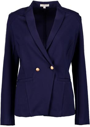 Minna Women's Blazers Navy - Navy Double Breasted Ponte Blazer - Women & Plus