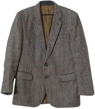 Burberry Grey Tweed Jackets