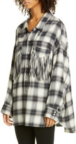 R 13 Fringe Pocket Plaid Shirt