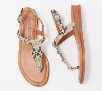 Zodiac Adjustable Thong Sandals - Giselle