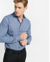 Express slim fit printed cotton shirt