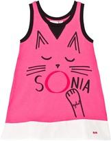 Sonia Rykiel Pink Cat Print Vest Dress
