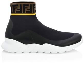 Fendi Logo Sock Runners