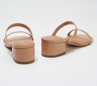 Marc Fisher Croco Embossed Heeled Sandals - Caylon