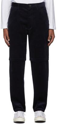 Comme des Garçons Shirt Navy Corduroy 2-Layer Trousers