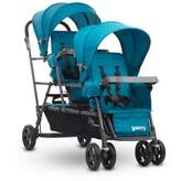 Joovy Big Caboose Graphite Stand-On Triple Stroller in Turquoise
