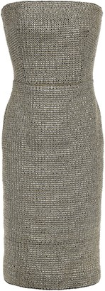 Black Halo Eve By Laurel Berman Sasha Strapless Metallic Crochet Dress