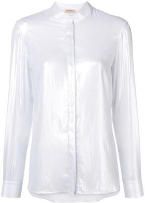 Blanca Vita Band Collar Shirt